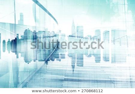 Stockfoto: Abstract · stadsgezicht · business · stad · reflectie · kaart