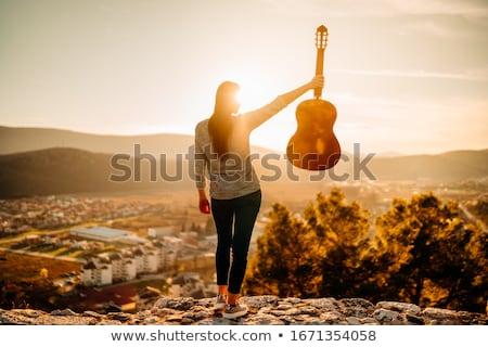 chitarra · donna · bellezza · giovani - foto d'archivio © photography33