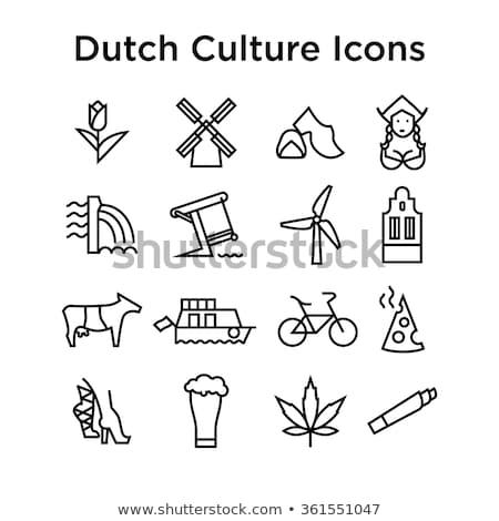 オランダ · アイコン · スタンプ · スクラッチ - ストックフォト © Myvector
