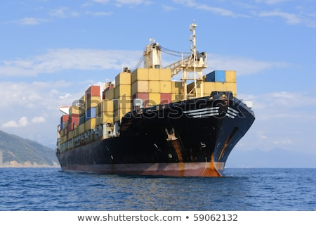 Large container ship in mediterranean coast  Stock photo © arcoss