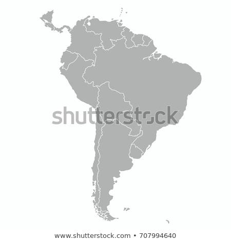 Dél-amerika térkép Bolívia tájkép zászló sziluett Stock fotó © Ustofre9