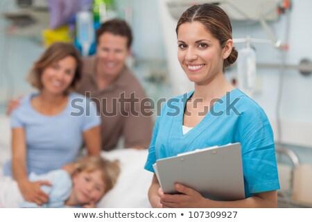 nővér · ír · vágólap · kórház · orvosi · vér - stock fotó © wavebreak_media