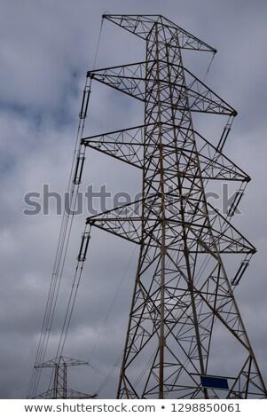 hoogspanning · leveren · kabel · geïsoleerd · witte · metaal - stockfoto © Arezzoni