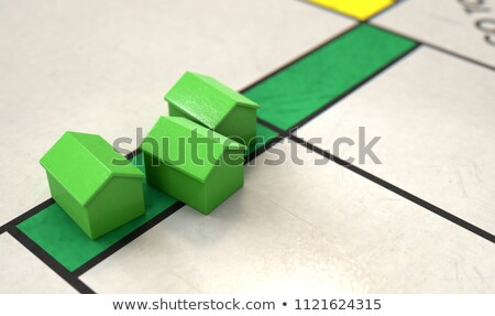 Monopoly Houses On A Board Stock photo © albund