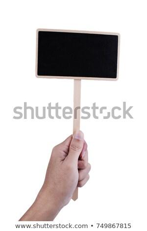 iskolatábla · felirat · függőleges · fehér · kréta · kész - stock fotó © PixelsAway