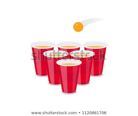 Ping pong ball in splashing water Stock photo © Kesu