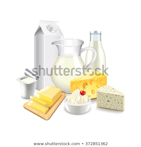 Izolált tejtermékek ital farm sajt vacsora Stock fotó © M-studio