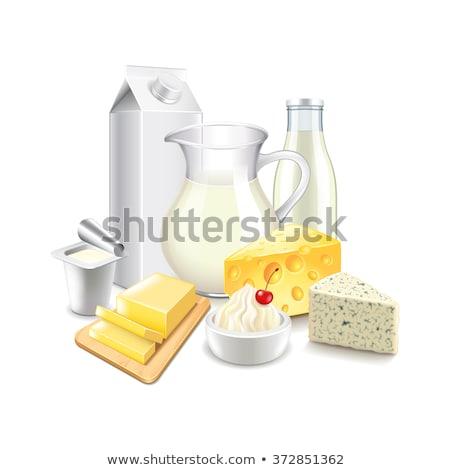 Isolado beber fazenda queijo jantar Foto stock © M-studio
