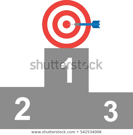 Number one bullseye on a target / First place Stock photo © curvabezier