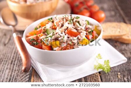 riso · insalata · tonno · pesce · pomodoro · alimentare - foto d'archivio © m-studio