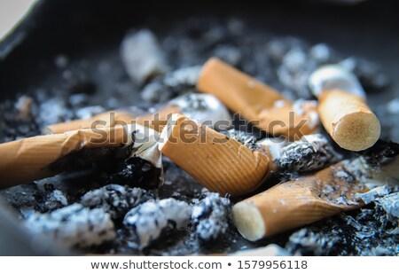 ashtray full of butts Stock photo © luckyraccoon
