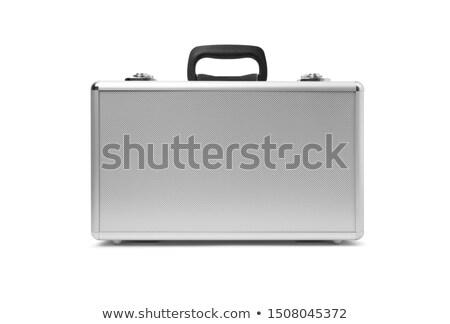 Madeni bavul gümüş yalıtılmış beyaz iş Stok fotoğraf © doupix