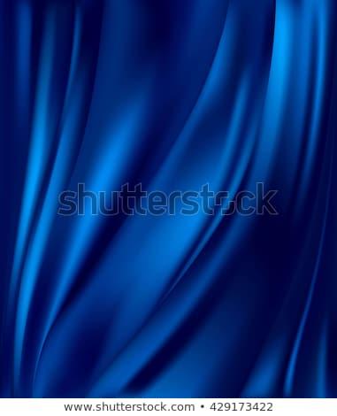 Stock photo: Blue satin texture