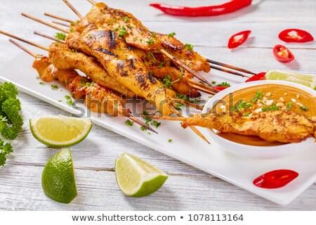 chicken satay or sate stock photo © szefei