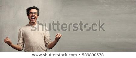 çılgın insanlar ağlayan gülme yalıtılmış beyaz Stok fotoğraf © doupix