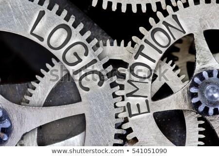 érzelem logika ellenkező feliratok kettő kék ég Stock fotó © stevanovicigor