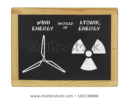 chalkboard wind energy instead of atomic energy Stock photo © Zerbor