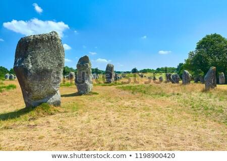 Carnac megaliths Stock photo © smithore