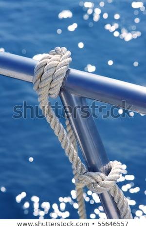 íj · vitorlázik · csónak · jacht · kék · tenger - stock fotó © lunamarina