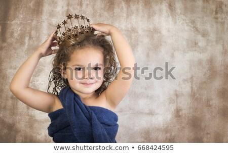 meisje · kroon · illustratie · vrouw · groene - stockfoto © zzve