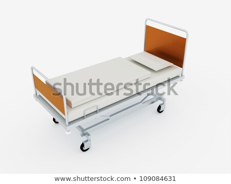 Digital illustration of hospital bed in abstract color background Stock photo © 4designersart