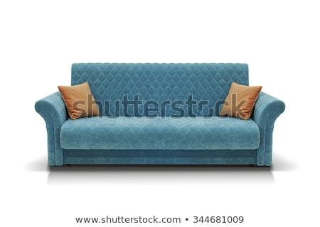 оранжевый современных диван изолированный моде пространстве Сток-фото © tungphoto