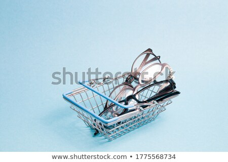 The blue pushcart  Stock photo © Ciklamen
