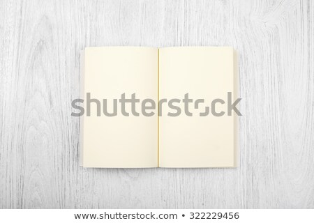 Open book on wooden deck Stock photo © ra2studio