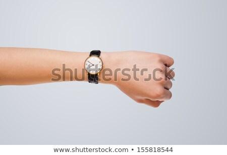 手 時計 正確な 時間 現代 ストックフォト © ra2studio