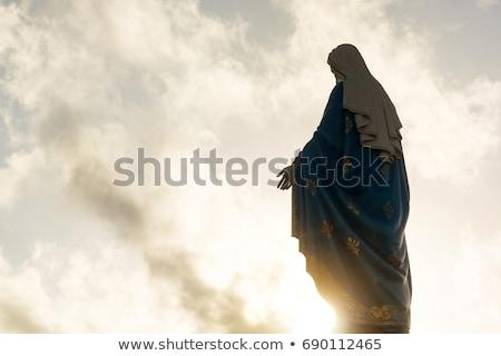 cristão · crucifixo · oração · mãos · feminino - foto stock © sirylok