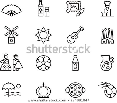 Zdjęcia stock: Madryt · ikona · pieczęć · druku · historii