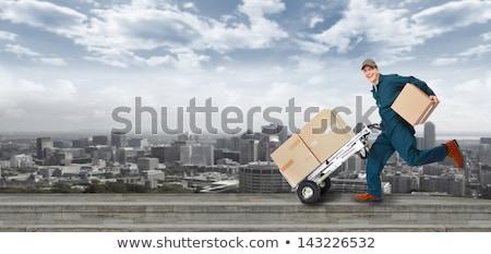 Lopen levering postbode landschap wereld achtergrond Stockfoto © Kurhan