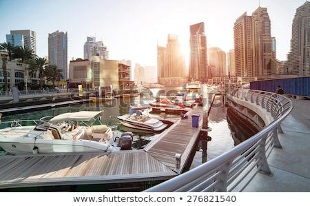 luxury building skyscraper and yachts port stock photo © fotoduki