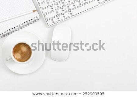 Klawiatury notatka odizolowany biały działalności Zdjęcia stock © Grazvydas