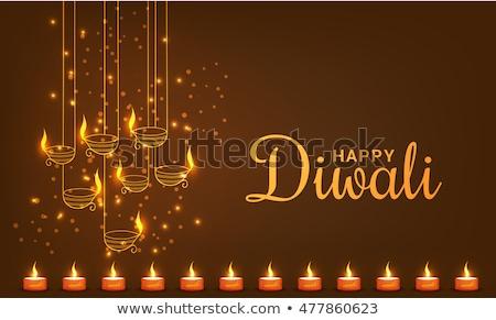 Beautiful creative shiny diwali lamp colorful background illustr Stock photo © bharat