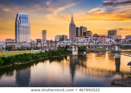 downtown nashville cityscape in the evening stock photo © andreykr