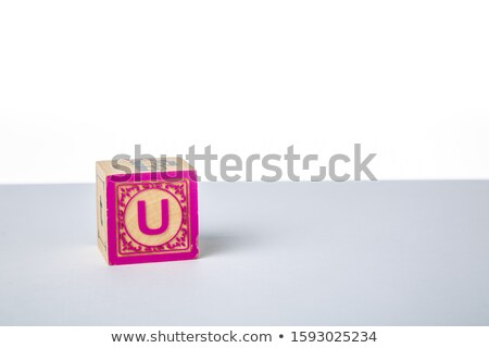 Letter U - Childrens Alphabet Block. Stock photo © tashatuvango