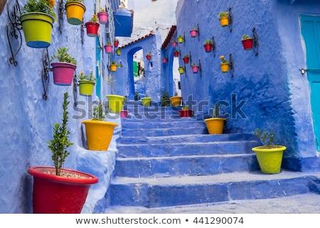 Narrow street in Morocco Stock photo © Hofmeester