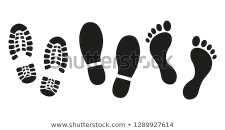 Szett fekete lábnyomok terv festék művészet Stock fotó © gladiolus