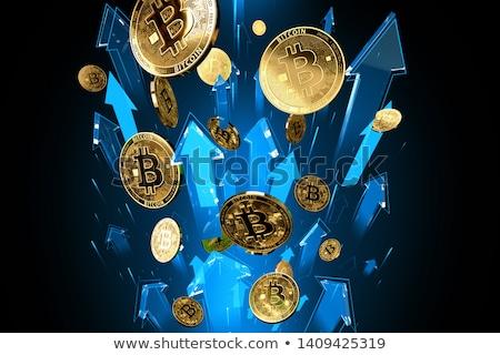 Bitcoin növekvő felfelé üzletember pénzügy nyertes Stock fotó © tintin75