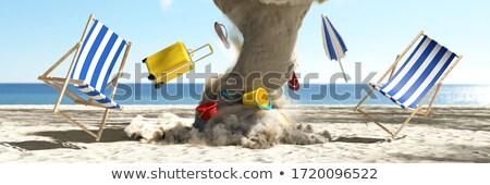 Tornado at the beach - 3D render Stock photo © Elenarts