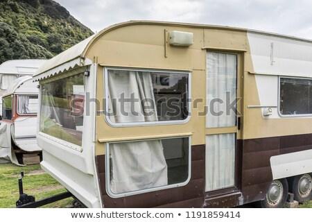 New caravans on trailer park Stock photo © speedfighter