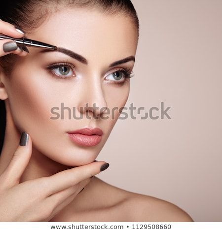 splendente · donna · occhi · trucco · chiuso · occhi - foto d'archivio © zastavkin