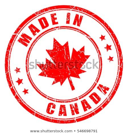 made in canada rubber stamp stock photo © burakowski