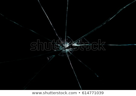 マクロ ショット ひびの入った ガラス テクスチャ パターン ストックフォト © shanemaritch