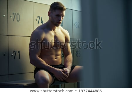 Locker Room Muscle Fitness Man Stock photo © ArenaCreative