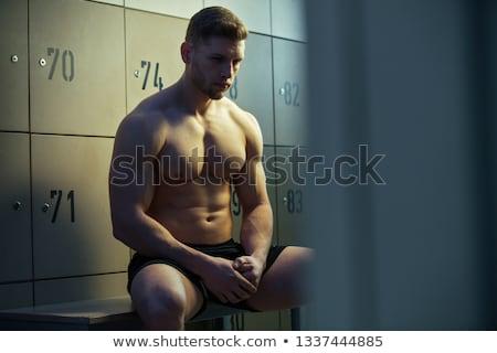 locker room muscle fitness man stock photo © arenacreative