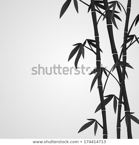 装飾的な · シルエット · 竹 · ベクトル · 芸術的 · グランジ - ストックフォト © VectorFlover