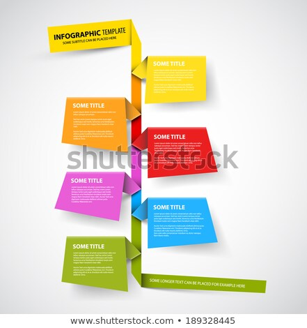 Infographic timeline report template made from colorful papers Stock photo © orson