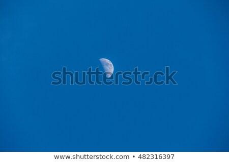 Half maan stil dag hemel Stockfoto © shihina